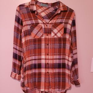 Thin Long Sleeve Button Up Tunic